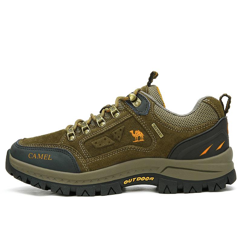 骆驼户外登山鞋男女款春季透气防水防滑爬山徒步鞋山地运动旅游鞋