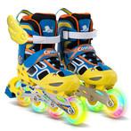 美洲狮轮滑鞋儿童全套装男女大中大童小孩初学者溜冰鞋可调节旱男