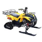 125CC小雪地沙滩车四轮越野摩托车履带式汽油滑雪车成人雪橇 绿色