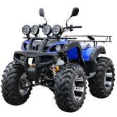 阔途 大公牛沙滩车150 200 250CC宗申发动机四轮沙滩摩托车全地形越野摩托车雪地车 蓝色 14寸豪华款   7580元