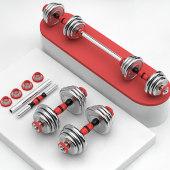 哑铃男士健身家用套装组合 一对20kg30/40纯铁电镀可调节拆卸杠铃