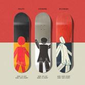 美国正品进口GIRL滑板板面高弹性三丽欧60TH联名款专业版双翘板面
