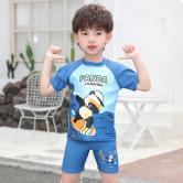 儿童泳衣男童防晒速干分体宝宝游泳衣可爱卡通中大童温泉泳裤套装